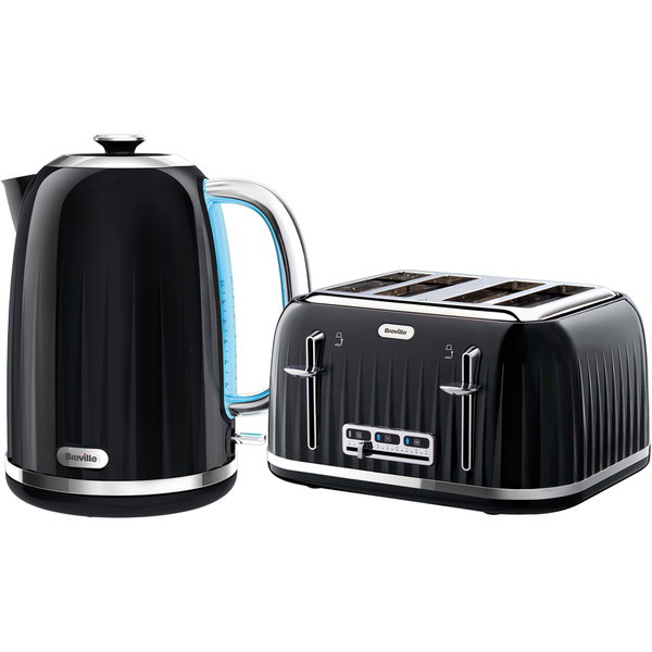 breville impressions collection kettle and toaster bundle black