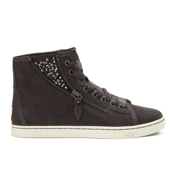 UGG Women's Blaney Crystals Hi-Top Trainers - Chocolate