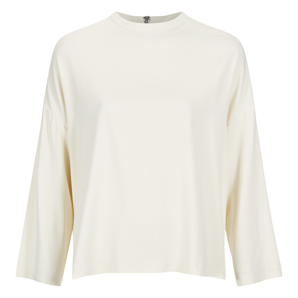 Ganni Women's White Tailor Blouse - Vanilla Ice