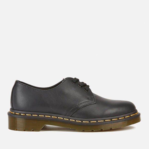 8547ad61f1 Dr. Martens Women's Core 1461 Virginia Leather 3-Eye Flat Shoes - Black    FREE UK Delivery   Allsole