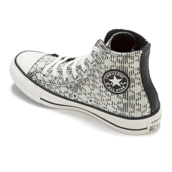 aabce17b7049 Converse Women s Chuck Taylor All Star Raffia Weave Hi-Top Trainers - Converse  Natural