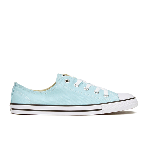 Converse Women s Chuck Taylor All Star Dainty Ox Trainers - Motel Pool Black  White e6fb4e7ab
