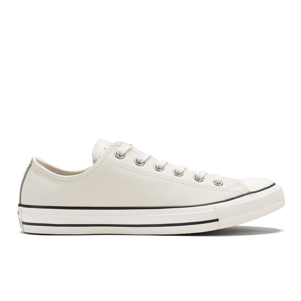 Converse Men s Chuck Taylor All Star Motorcycle Leather Ox Trainers -  Parchment Black White 9c8f229b1
