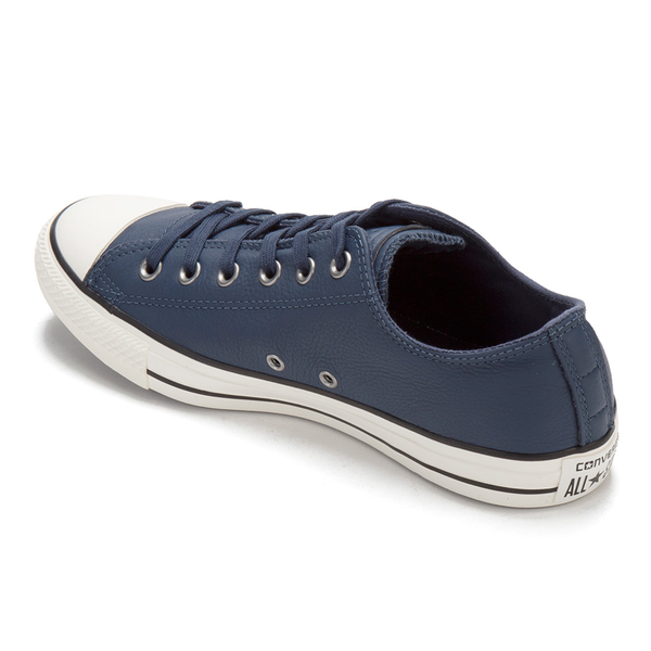 66c9f693d1ea Converse Men s Chuck Taylor All Star Motorcycle Leather Ox Trainers - Navy  Black Egret