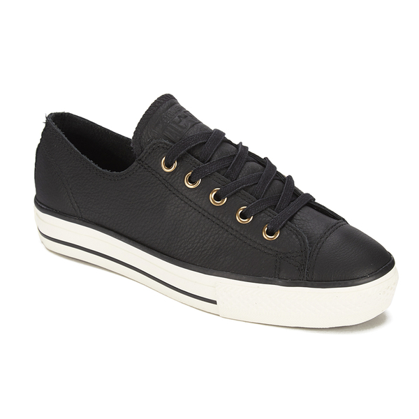 Converse Women's Chuck Taylor All Star High Line Craft Leather Flatform Ox Trainers Black