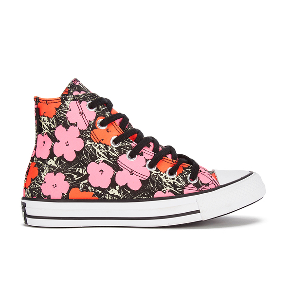 Converse Andy Warhol Chuck Taylor All Star Hi-Top Trainers - Poppy Red/Fuchsia Purple/White