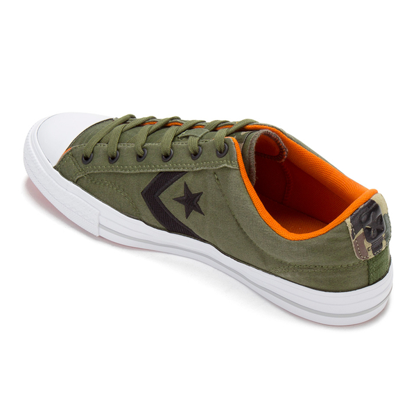 Converse Mens CONS Star Player Nylon Trainers  HerbalBlackFire Pit  Image