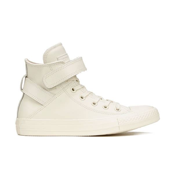 Converse Women s Chuck Taylor All Star Brea Leather Hi-Top Trainers -  Parchment White a58b11e7e