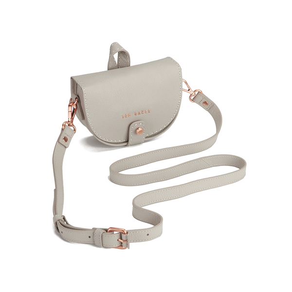 94eab6764 Ted Baker Women s Eliee Stab Stitch Leather Mini Crossbody Bag - Light  Grey  Image 2