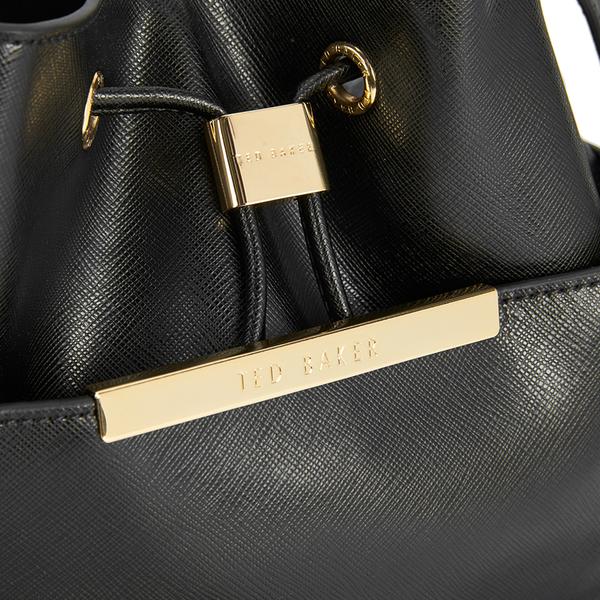 469f0bb1a966e Ted Baker Women s Adrene Large Metal Bar Bucket Bag - Black  Image 3