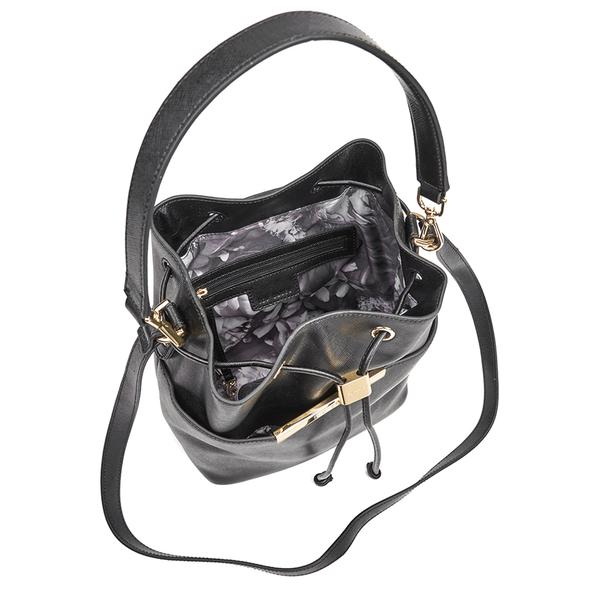 fb10aadfb42f1 Ted Baker Women s Adrene Large Metal Bar Bucket Bag - Black  Image 4