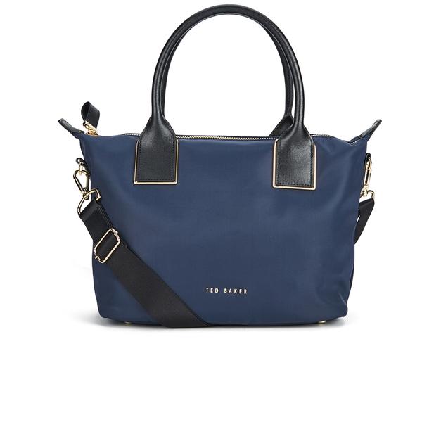 7690568b7e9c Ted Baker Women s Lizziy Plain Nylon Small Shopper Bag - Navy  Image 1