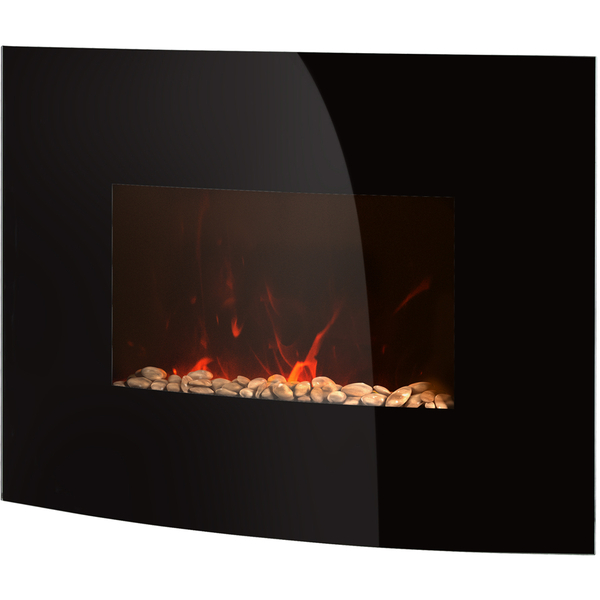 Warmlite wl45022 curved glass wall fire black homeware for Curved glass wall
