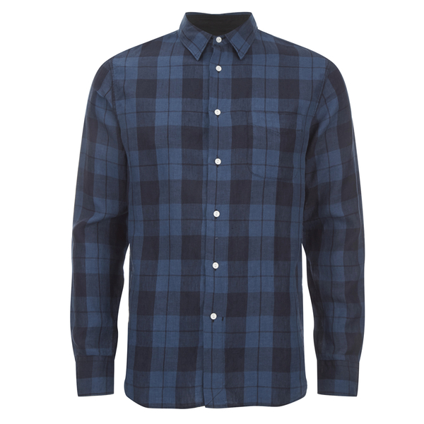 rag & bone Men's Beach Shirt - Blue Plaid