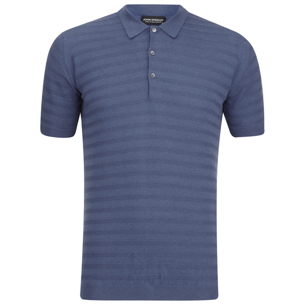 John Smedley Men's Runkel Sea Island Cotton Polo Shirt - Baltic Blue