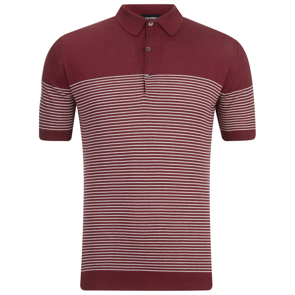 John Smedley Men's Viking Sea Island Cotton Polo Shirt - Russet Red