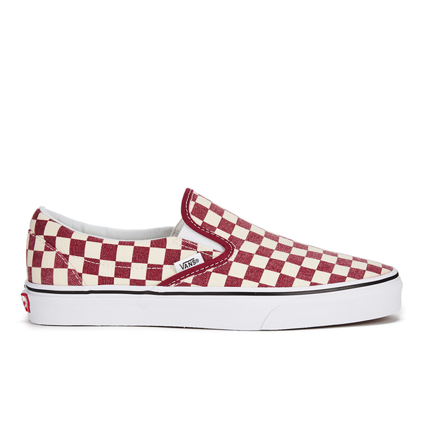 948458c246ac54 Vans Men s Classic Slip-on Checkerboard Trainers - Rhubarb White ...