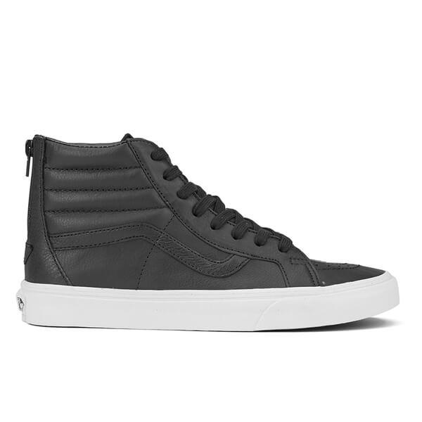 0081951d913b6b Vans Men s Sk8-Hi Reissue Zip Premium Leather Trainers - Black True White