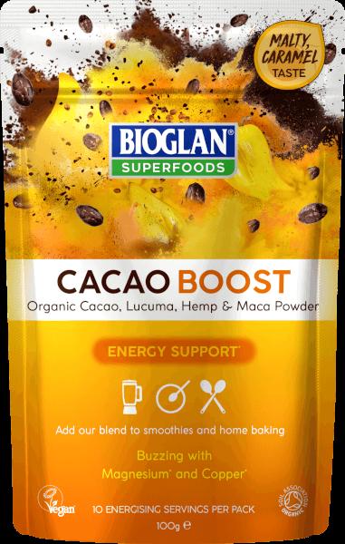 Bioglan Superfoods Supergreens Cacao Boost - 100g