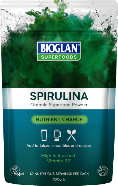 Bioglan Superfoods Supergreens Spirulina Powder - 100g