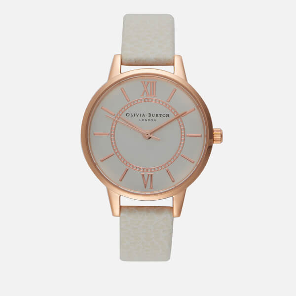 Olivia Burton Women's Wonderland Watch - Mink/Rose Gold Silver Mix