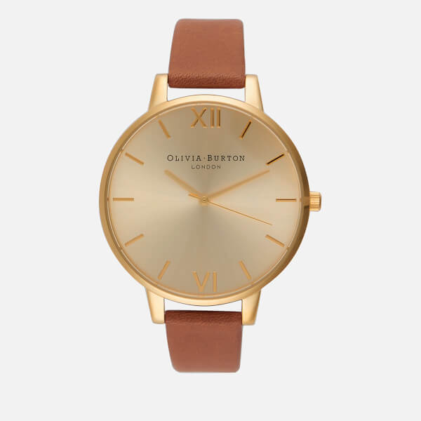 Olivia Burton Women's Big Dial Watch - Tan/Gold