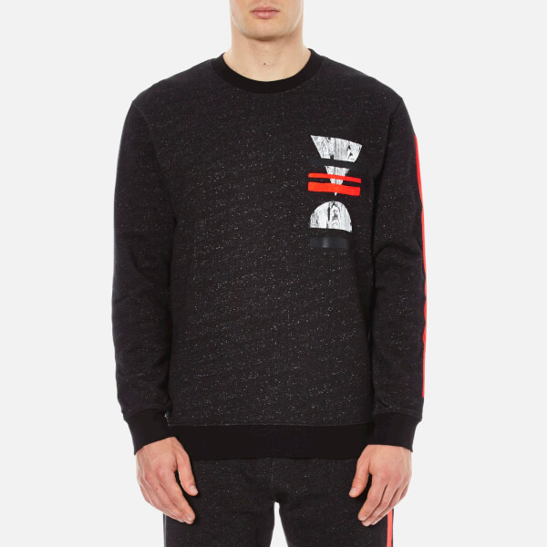 McQ Alexander McQueen Men's Big Crew Neck Sweatshirt - Black Melange