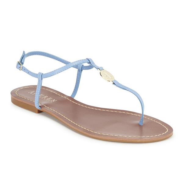 08c4b387e46f Lauren Ralph Lauren Women s Aimon Leather Sandals - Polo Tan  Image 2