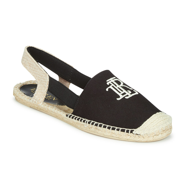 lauren ralph lauren women 39 s dafny canvas espadrilles black free uk delivery allsole. Black Bedroom Furniture Sets. Home Design Ideas