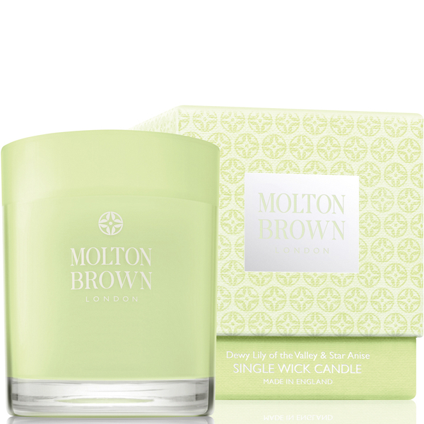 Molton Brown Dewy Lily of the Valley & Star Anise Single Wick Candle 180g