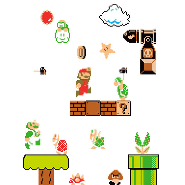Super Mario Bros Wall Stickers Nintendo Official Uk Store