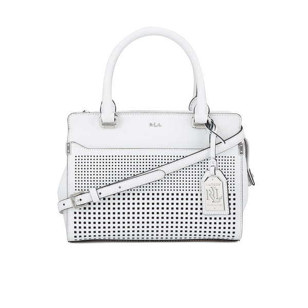 4b5271688f Lauren Ralph Lauren Women s Yolanda Convertible Satchel Bag - Bright White   Image 1