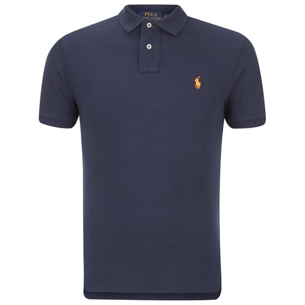Polo Ralph Lauren Men s Custom Fit Polo Shirt - Newport Navy - Free UK  Delivery over £50 03093c028