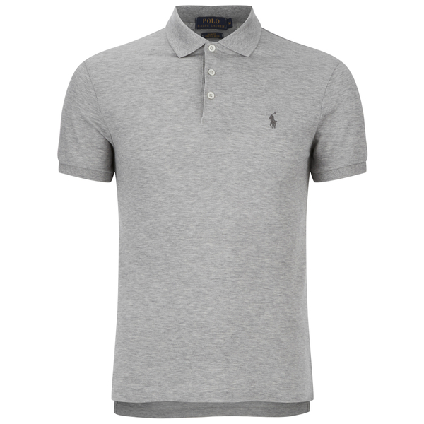 Polo Ralph Lauren Men 39 S Slim Fit Polo Shirt Light Grey