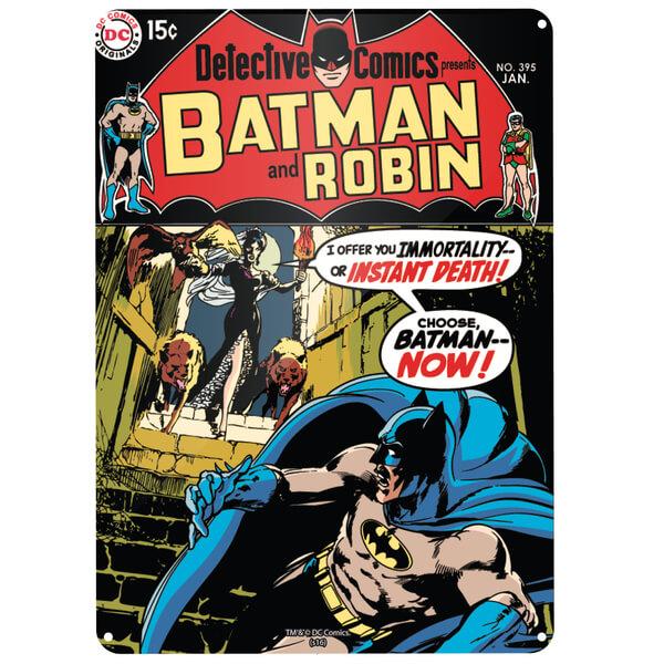Grande Affiche en métal Batman et Robin DC Comics