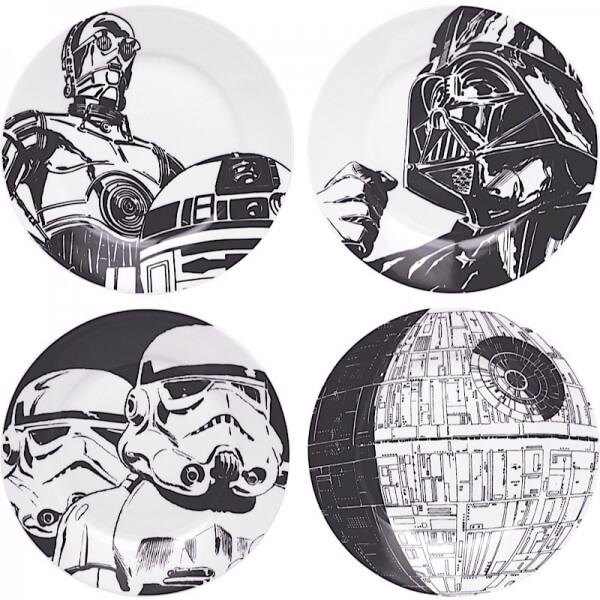 Set de regalo Platos Star Wars - 4 piezas
