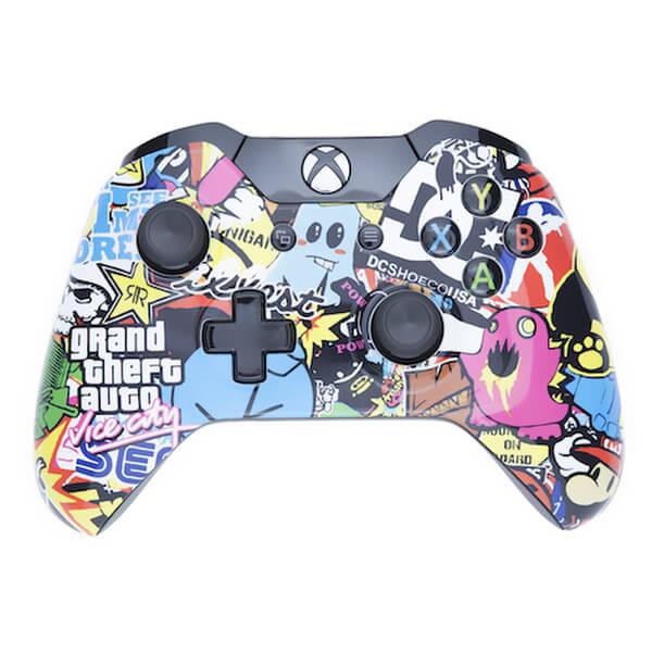 Xbox One Wireless Custom Controller - Retro Bomb Games ... H20 Delirious Controller