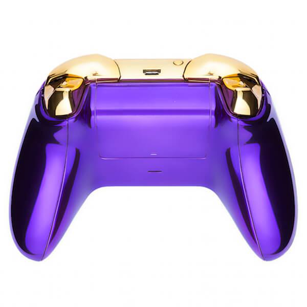 Xbox One Wireless Custom Controller - Chrome Purple & Gold ...