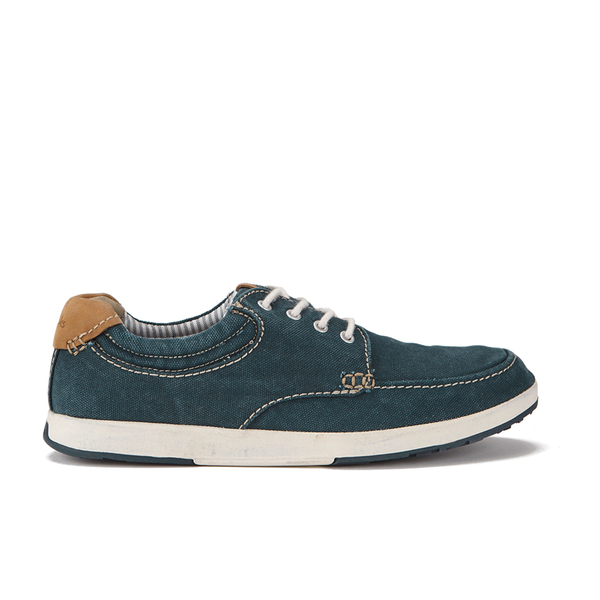 Clarks Men's Norwin Vibe Canvas Boat Shoes - Navy: Image 1
