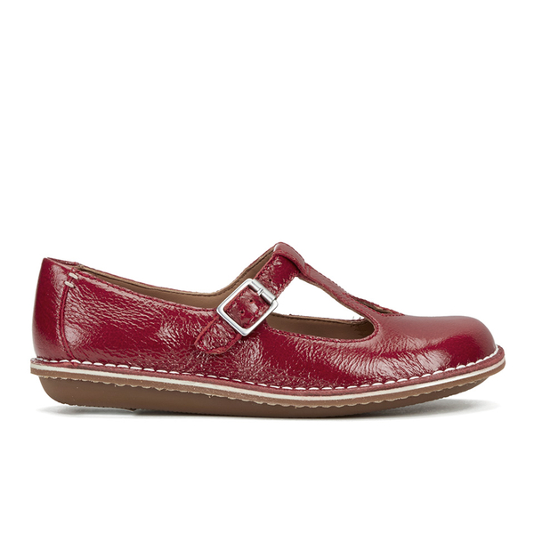 Clarks Women's Tustin Talent Leather Mary Jane Flats  Red: Image 1