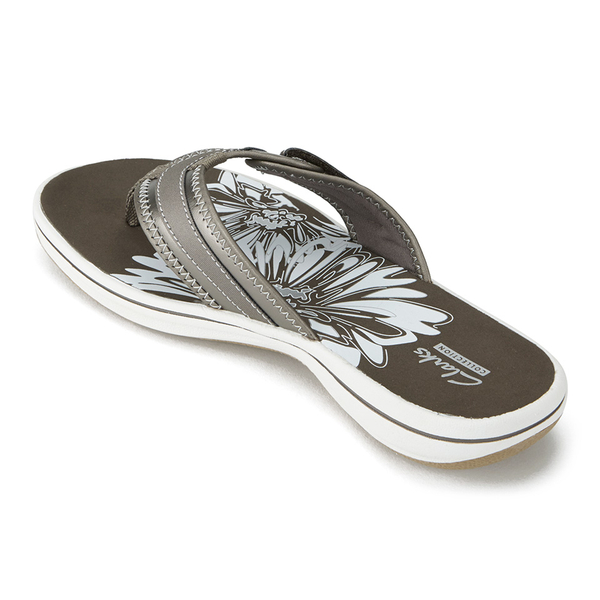 2f8b2b4c9e766a Clarks Women s Brinkley Mila Toe Post Sandals - Pewter  Image 6