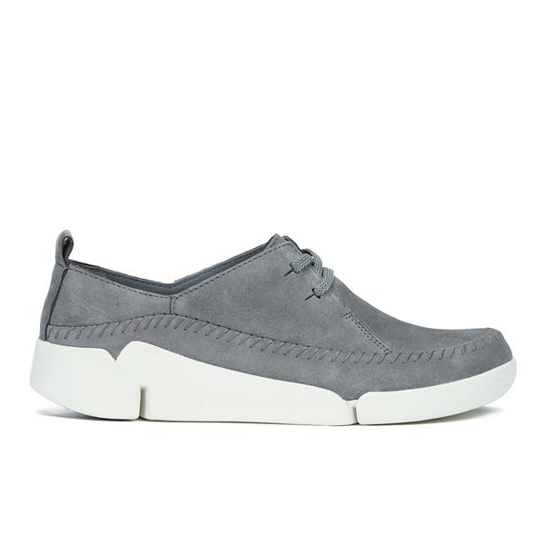 Clarks Women's Tri Angel Leather Sporty Shoes - Grey/Blue