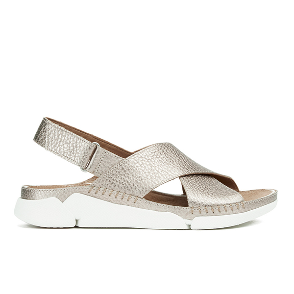 2919568f9600 Clarks Women s Tri Alexia Cross Front Leather Sandals - Gold  Image 1