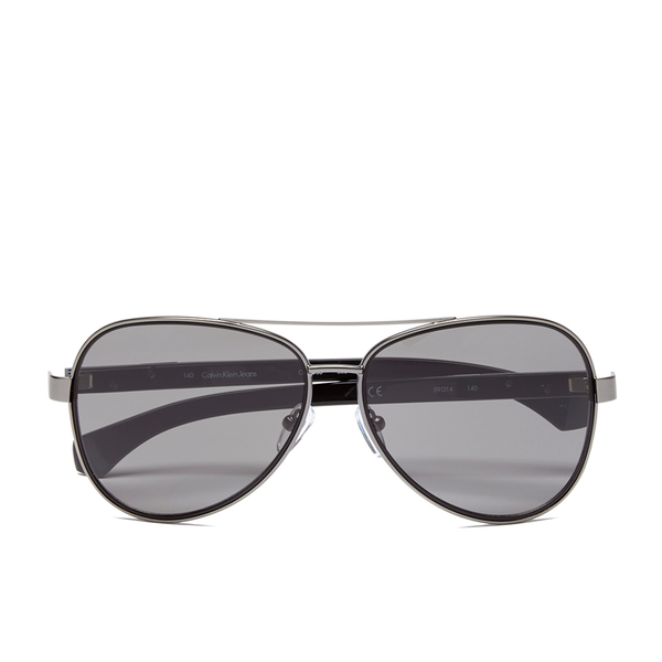 Ck Jeans Sunglasses  calvin klein jeans uni aviator sunglasses gunmetal womens