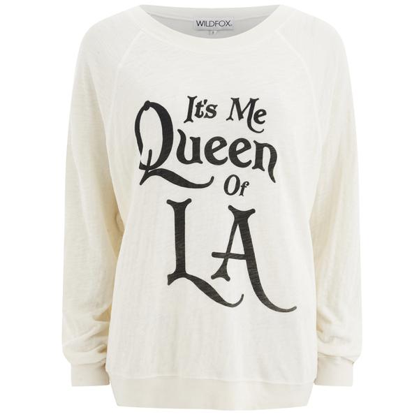 Wildfox Women's Queen of LA Sweatshirt - Pearl