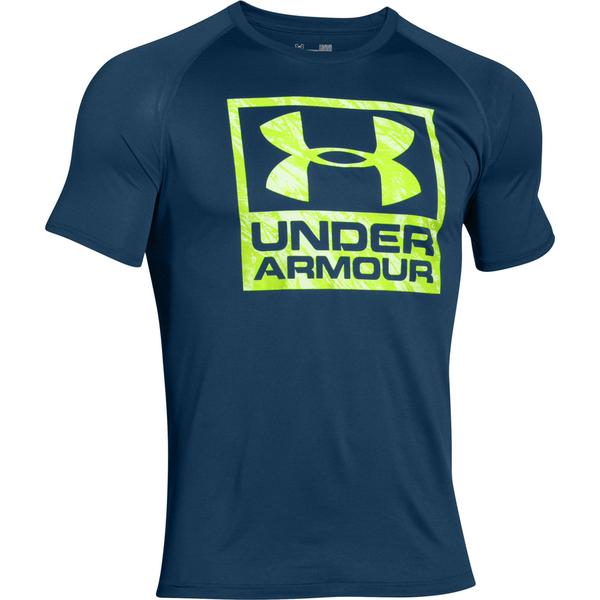 Under Armour Men's Tech Boxed Logo T-Shirt - Navy Blue ...