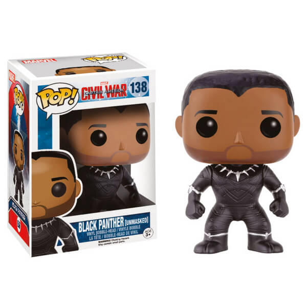 Captain America Civil War Black Panther Unmasked Pop! Vinyl Figure
