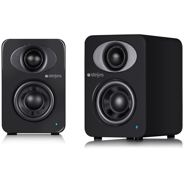 Steljes Audio NS1  Bluetooth Duo Speakers  - Gun Metal Grey