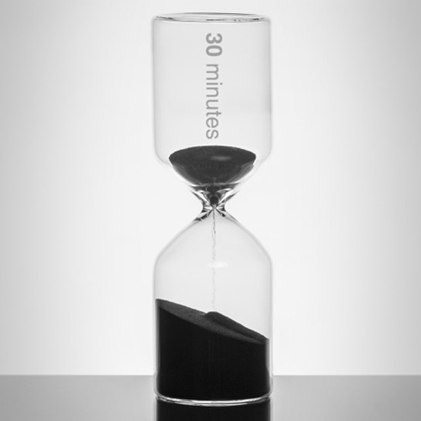 Lab Half-Hour Glass Sand Timer - 30mins