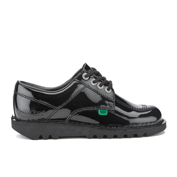 Kickers Women's Kick Lo Patent Lace Up Shoes - Black
